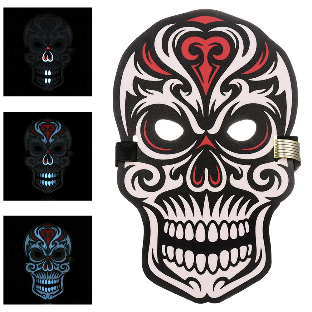 Day of The Dead Skull LED Mask