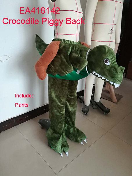 Halloween Piggy Back Crocodile Ride On Animal Costumes