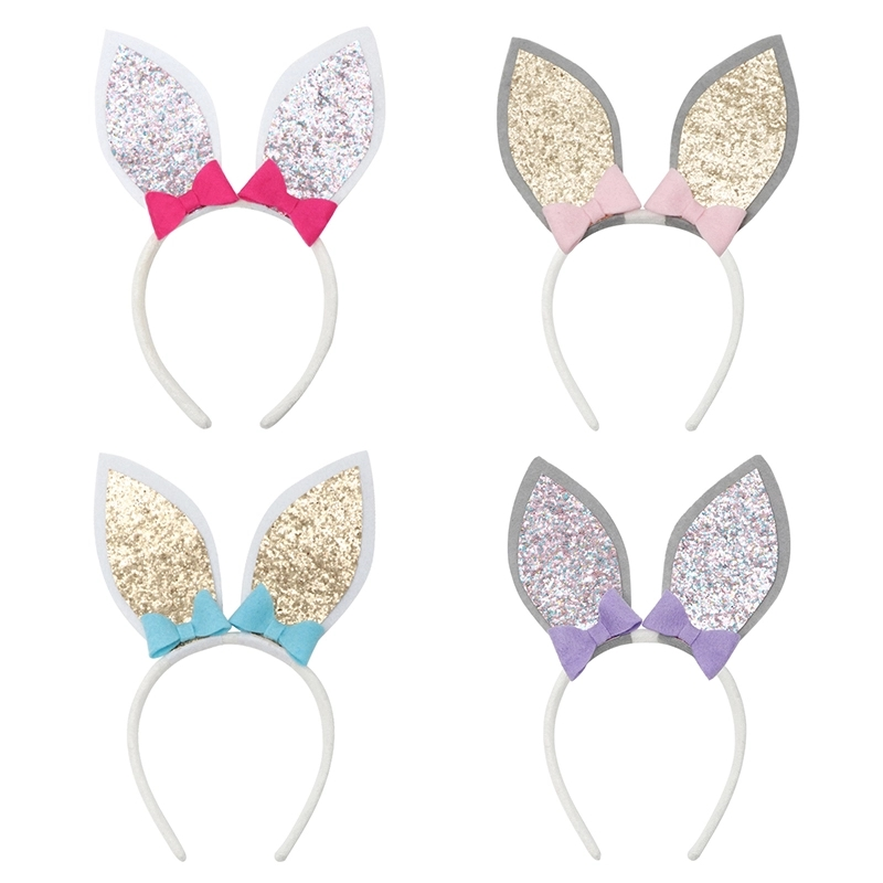 Non-woven Glitter Felt Rabbit Bunny Ear Headband For Easter Holiday