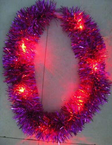 Mixed Red and Purple Garlands Light Up Holiday Decoration