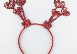 Valentine's Day Glitter Headband Heart Picks