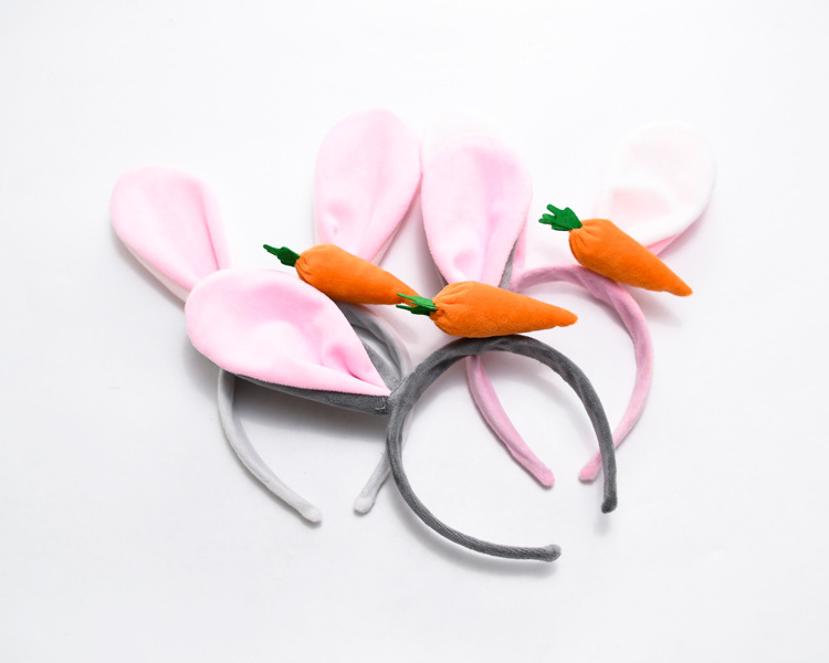 Bunny Ears Headbands With Carrot Easter Party Supplies Favors