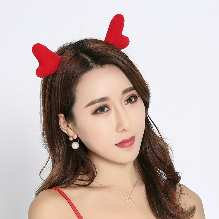 Valentint Heart Shaped Red Headband