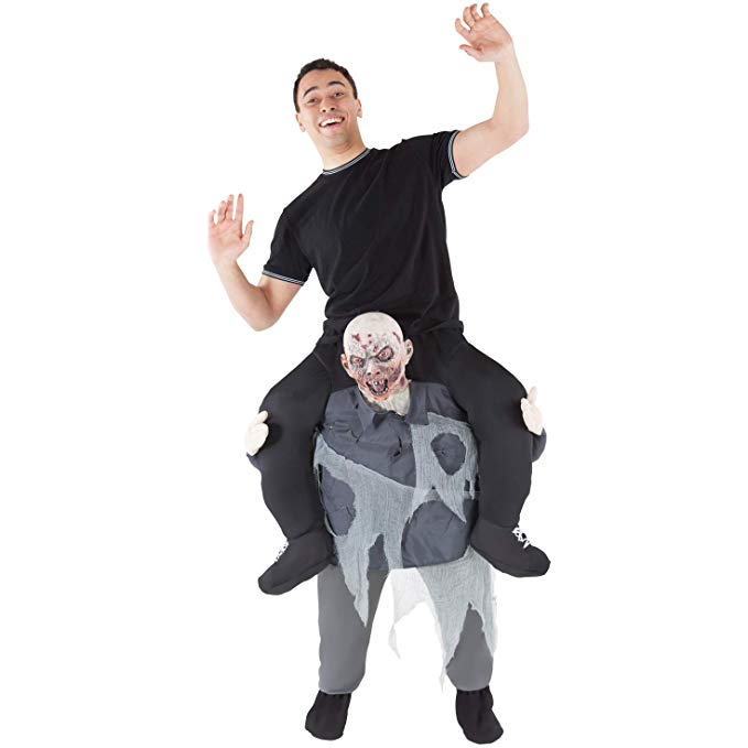 Scary Zombie Bloody Men Costume Riding Shoulder Costume