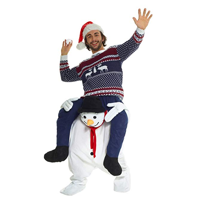 Christmas Snowman Costume Riding Shoulder Costume
