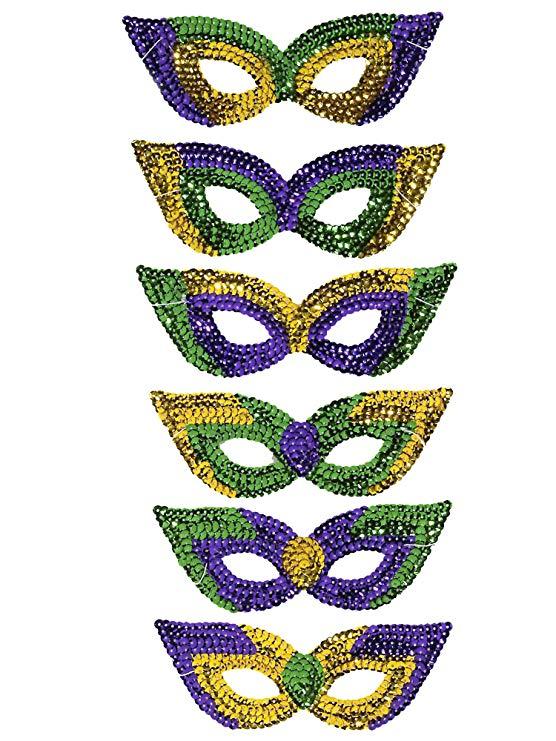 Sequin Mardi Gras Masks