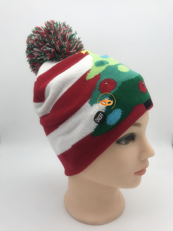 LED Light UP Beanie Hat Christmas Tree Hat