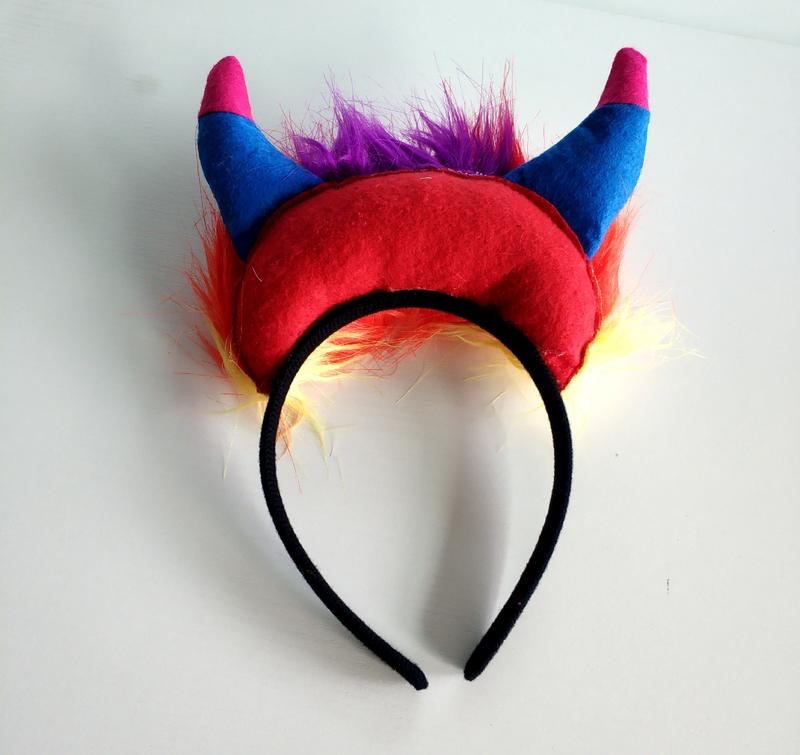 Halloween Cartoon Devil Horns Headband