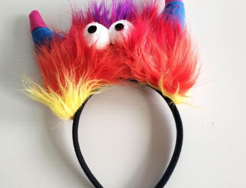 Cartoon Devil Horns Headband W Big Eyes Halloween Party