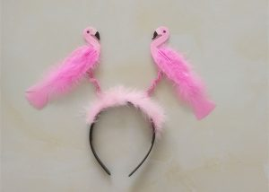 Flamingo Party Pink Glitter Headband