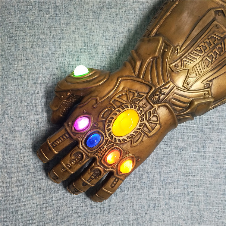 Avengers Endgame Thanos Gauntlet Gloves Infinity Gems Props for Adult (LED)