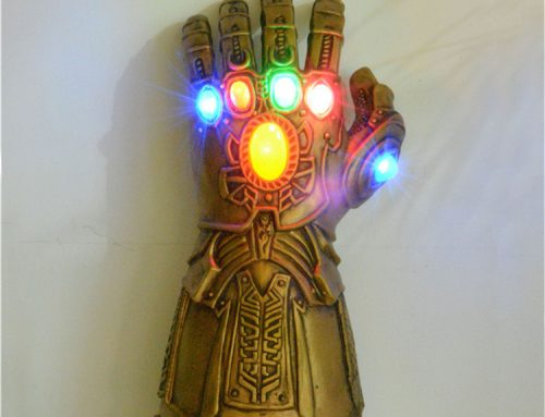 LED Light Up PVC Thanos Gloves Electronic Fist The Avengers Cosplay Prop