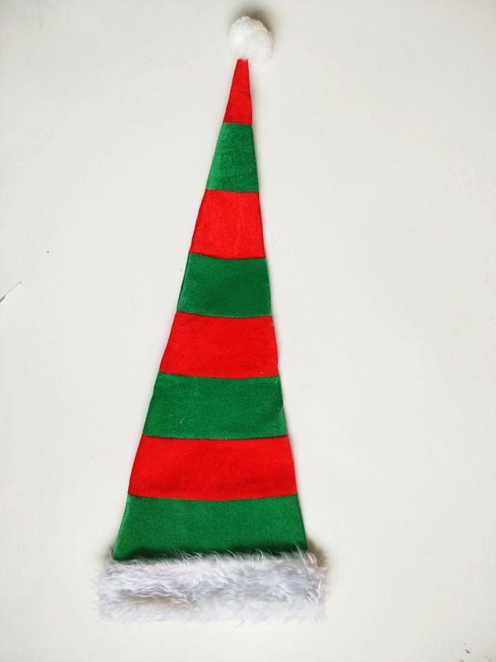 Santa Hats High Tall Stripe Hat