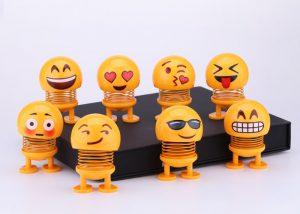 Tik Tok Best-Seller Smiling Face Spring For Car Decoration