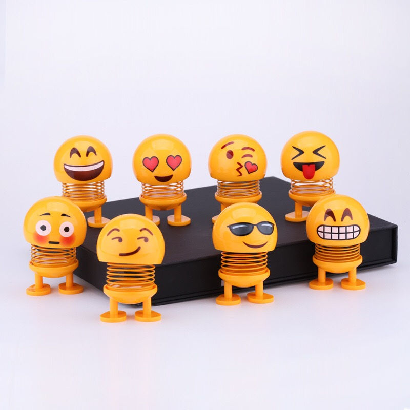 Tik Tok Best-Seller Smiling Face Spring For Car Decoration
