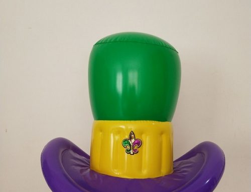 Mardi Gras Inflatable Hat Party Decoration Cap Top Hat