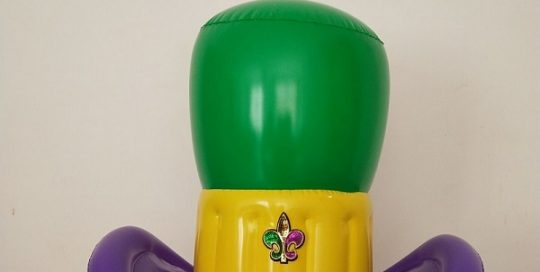 Mardi Gras Inflatable Top Hat Party Decoration