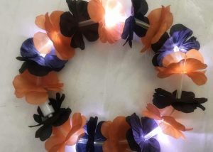 Purple Orange Halloween Light Up Lei