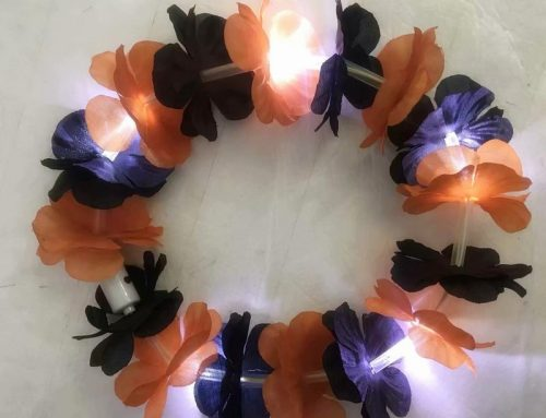 Artificial Wreath Halloween Light Up Lei For Party Dance Decor Favors