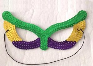 Purple Green Gold Sequin Eye Mask