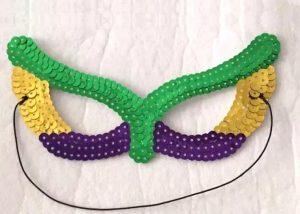 Purple Green Gold Sequin Eye Mask