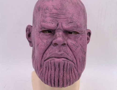 Marvel Avengers Infinity War Thanos Full Head Latex Mask Halloween Cosplay Props