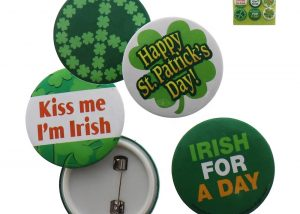 Shamrock Buttons Pins