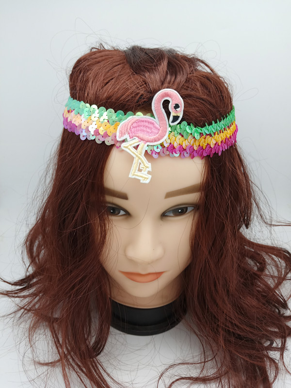 Corlorful Sequin Flamingo Headband