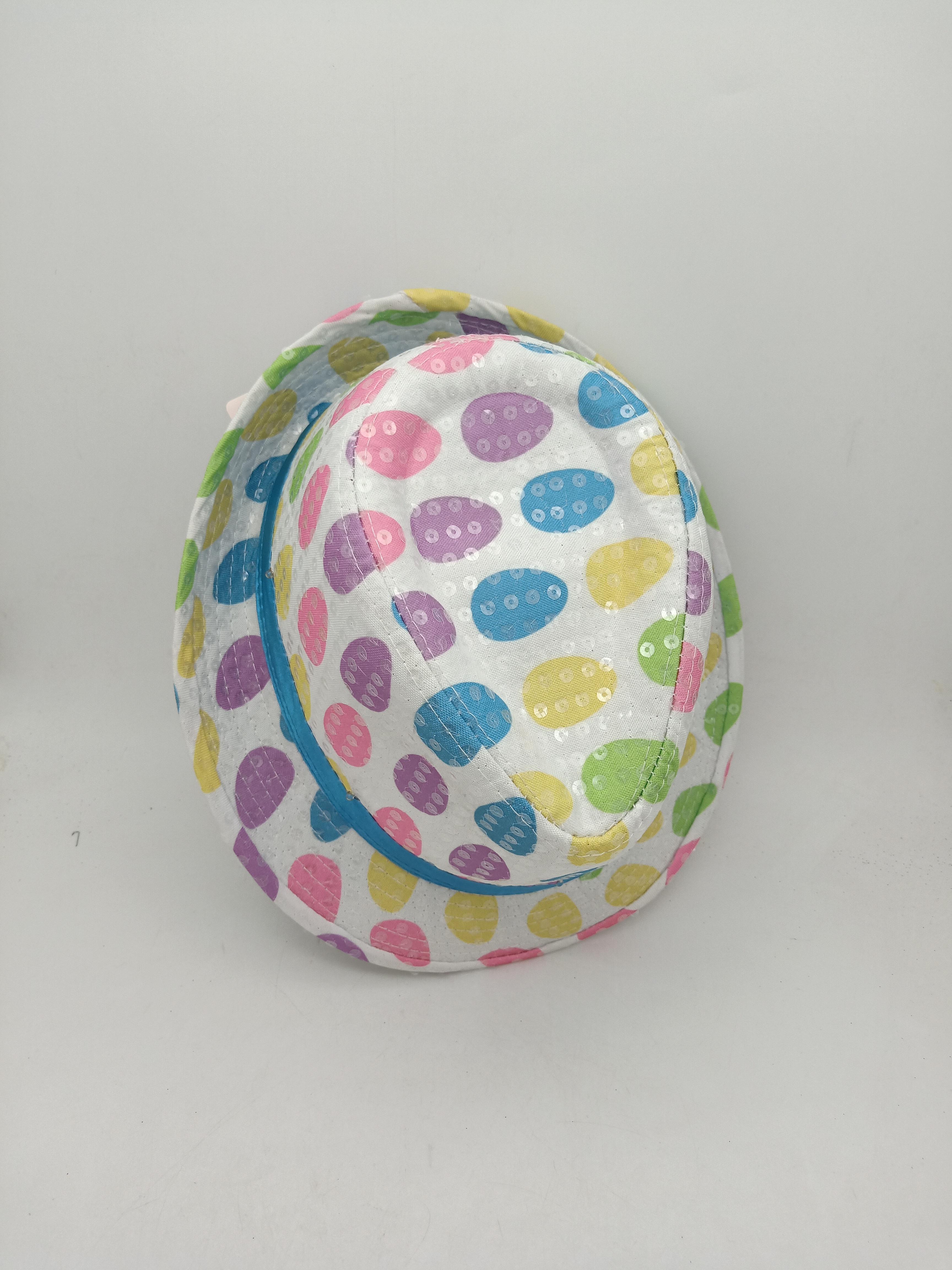 Easter Sequin Hat W Egg Pattern Light Up Sequins Fedora Hat For Spring Summer