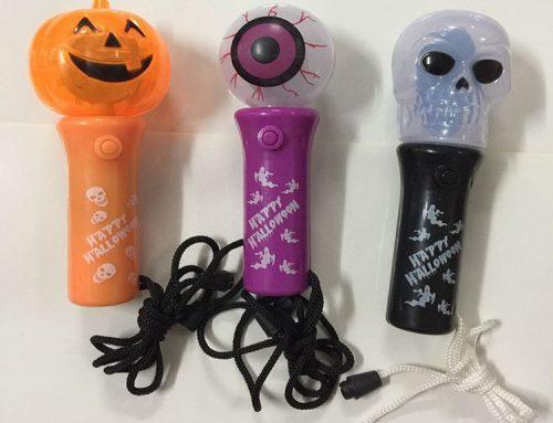 Halloween Flashing Stick Rotating Stage Light Skull LED Light Up Stick