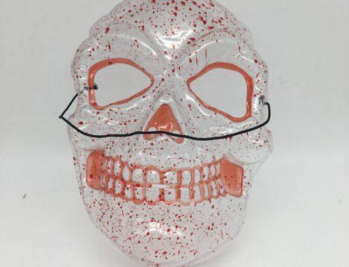 Sprit Halloween Transparent Mask Full Face Mask Bloody Skull Mask