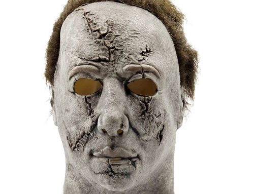 Halloween Michael Myers Mask Adult Cosplay Costume Grey