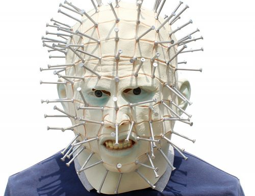 Lego Party Hellraiser Pinhead Mask Halloween Costume Accessory