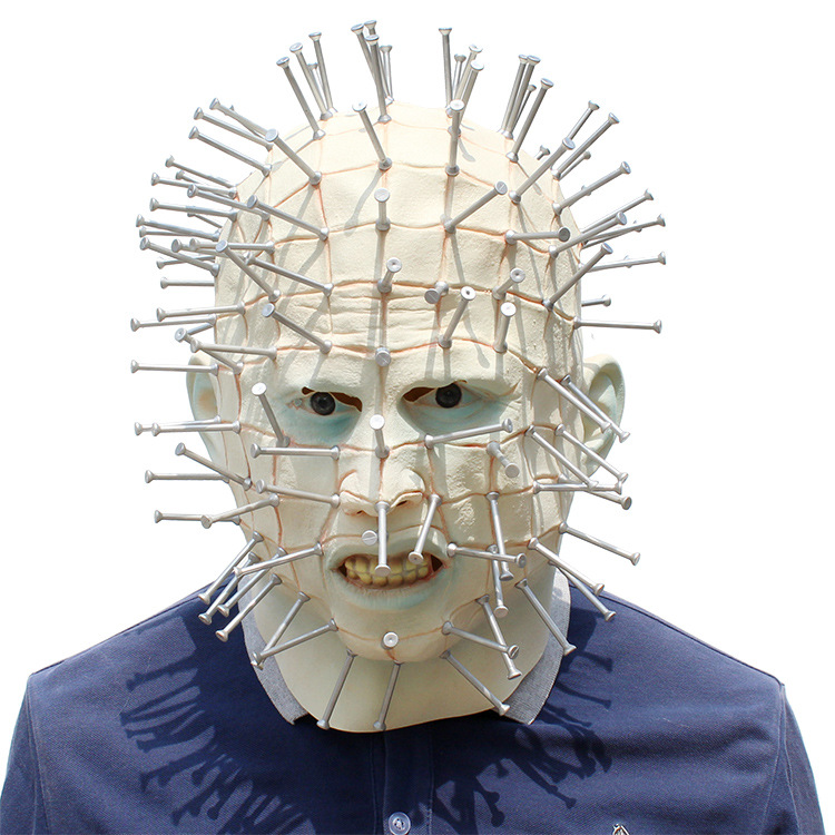 Hellraiser Pinhead Mask Halloween Costume Accessory