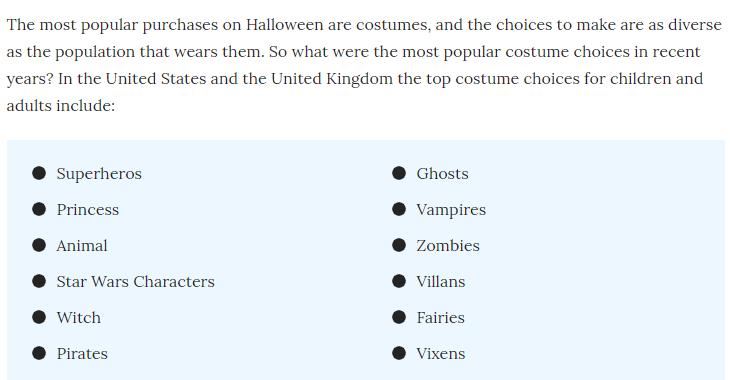 Halloween Trending Costume