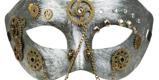 Assorted Masquerade Party Ball Mask In Brushed Bronze  Blue Red Bronze Or Pink