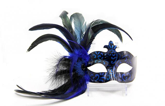 Plastic Mask with Macrame-Blue Color