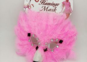 Feathery Pink Flamingo Gems Masquerade Bird Animal Halloween Costume Mask