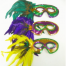 Mardi Gras Feather Mask with Stick