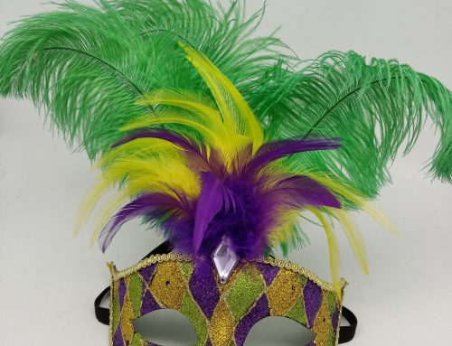 ASST LED Light Up Face Masks PGG Mardi Gras Lighting Masks