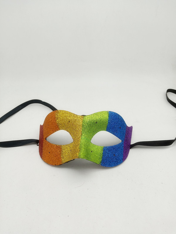 Light Up LED'Rainbow Glitter Mask