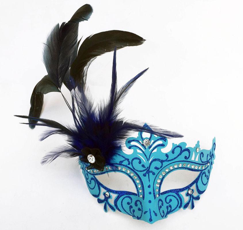 FDL Glitter Mask w Blue Glitter Edge