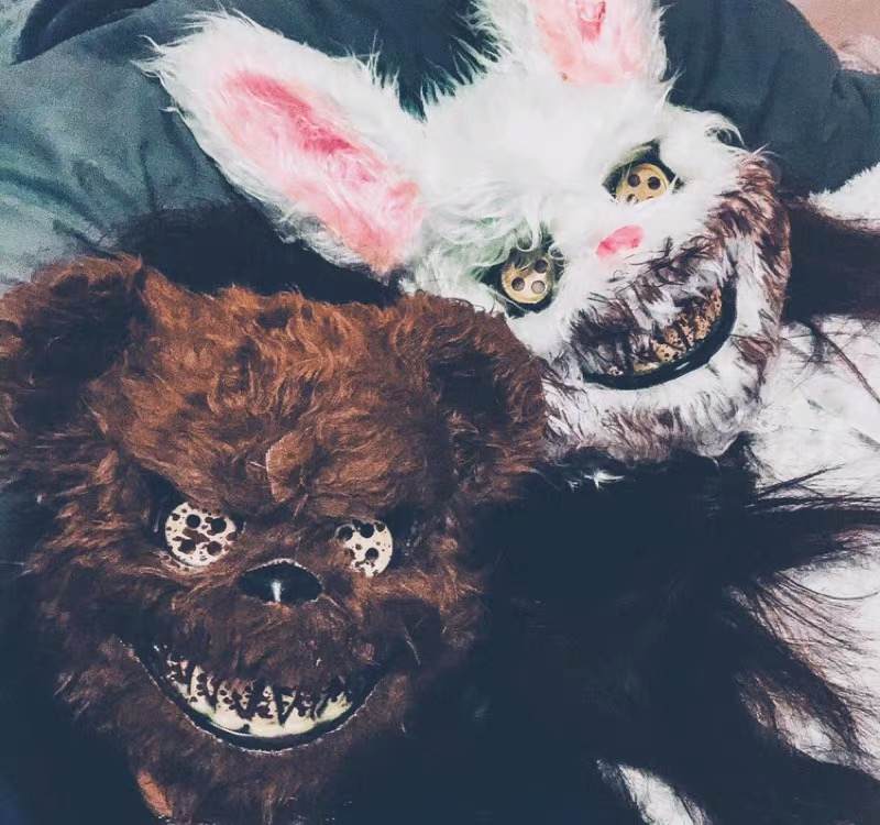 Halloween Animal Couple Masks