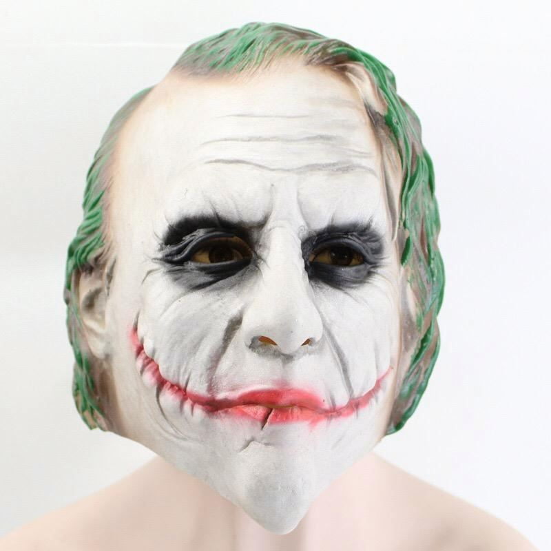The Dark Knight New Scary Cosplay Costume Smile Face Masks Horror Clown Latex Mask